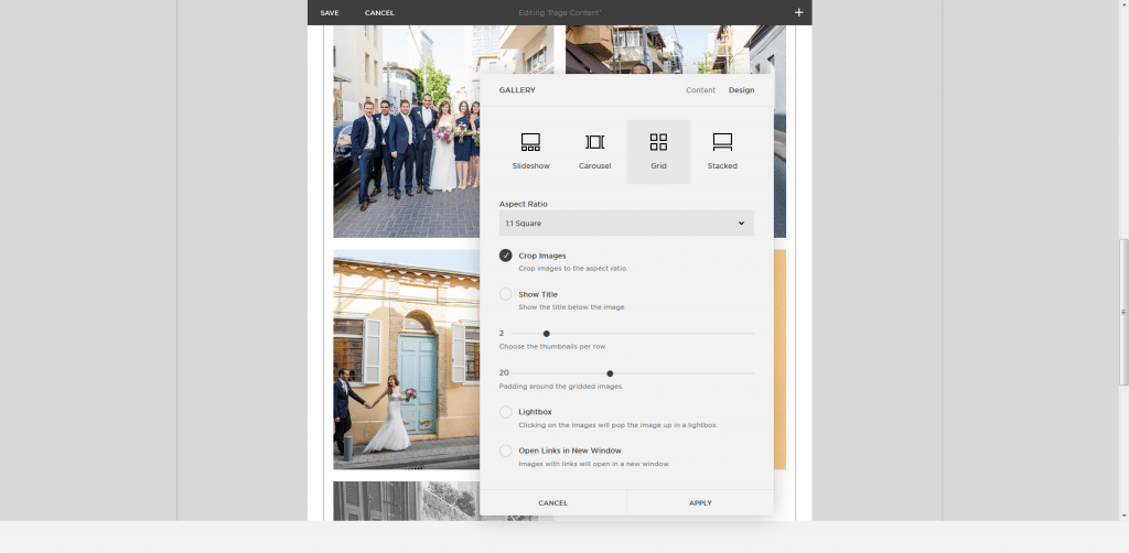 Squarespace editor gallery2