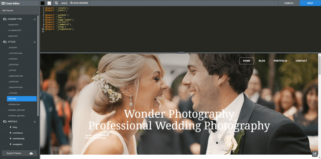 Weebly editor html css