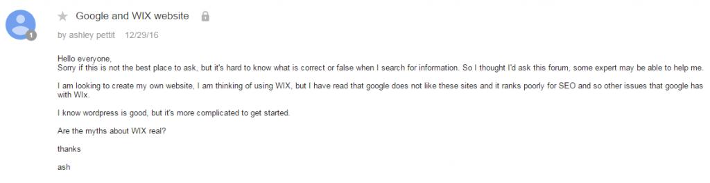 Wix seo google question