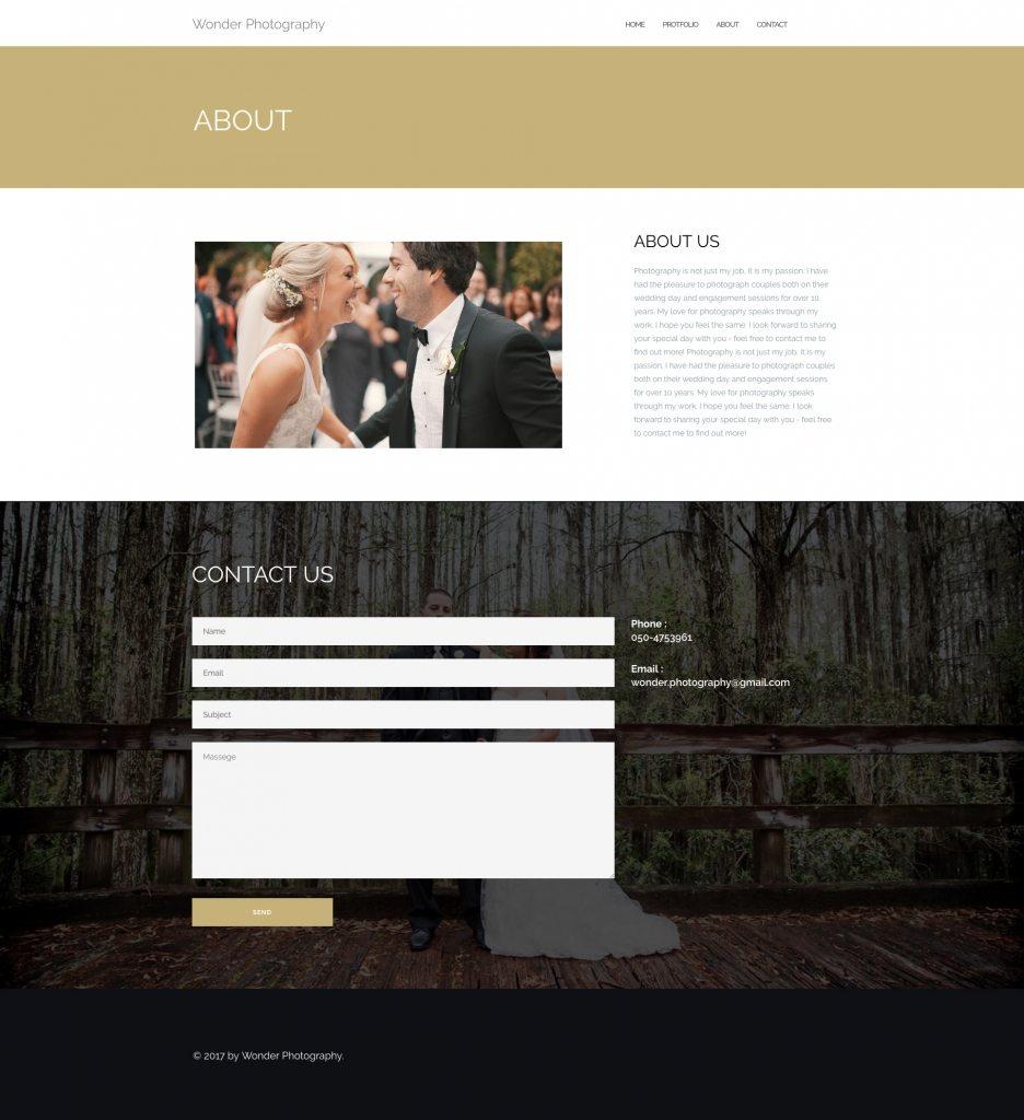 Wordpress about screen