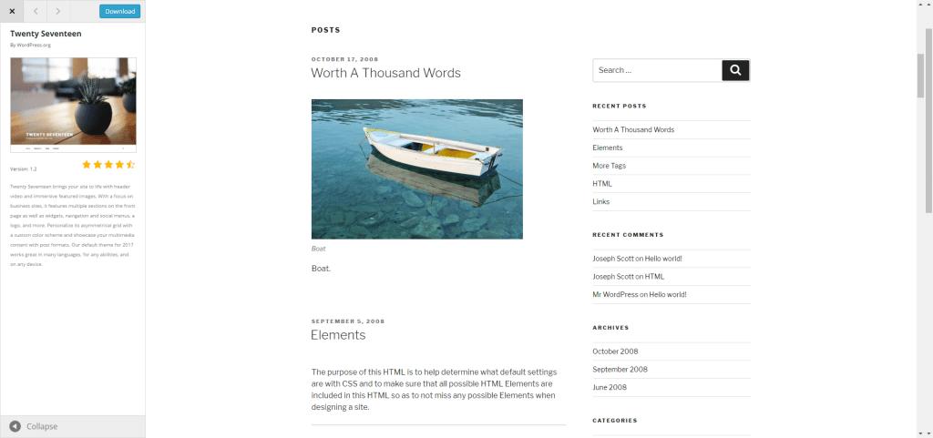 Wordpress - basic theme