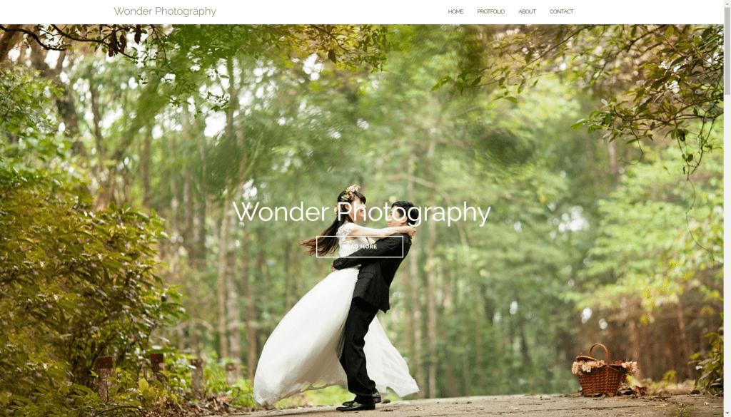 Wordpress home page desktop