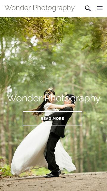 Wordpress mobile homepage
