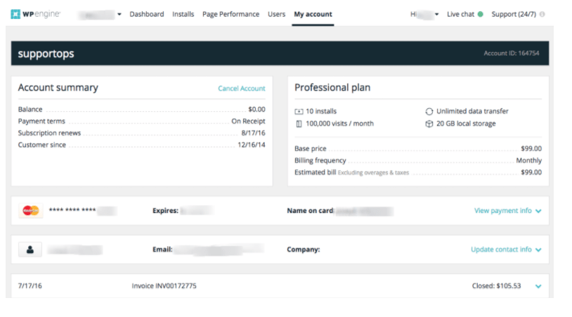WP Engine Payment Processing
