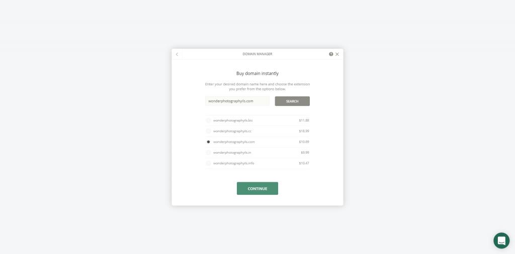 Ucraft's domain app