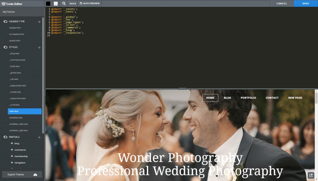 Website Builder Customization