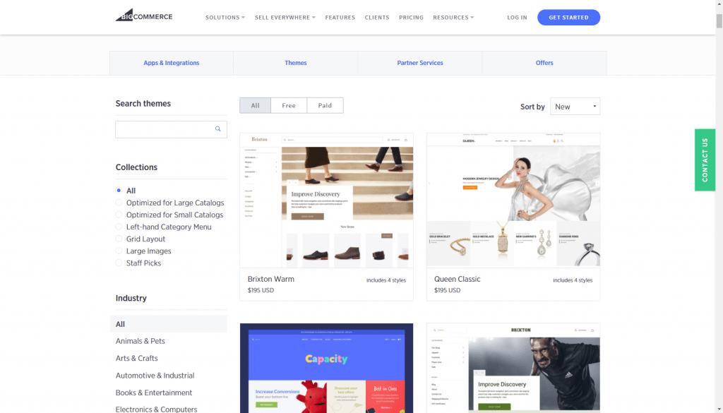 BigCommerce templates