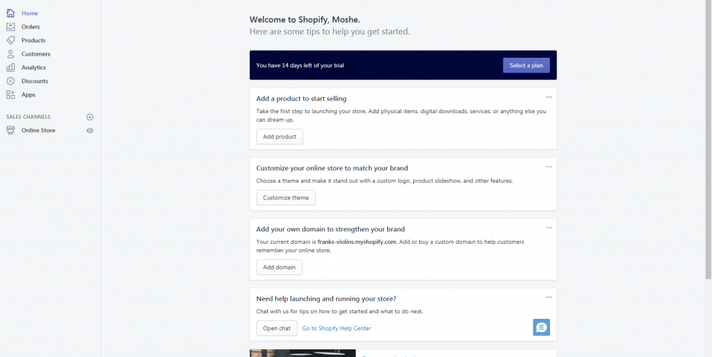 Shopify's templates