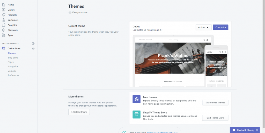 Shopify's themes