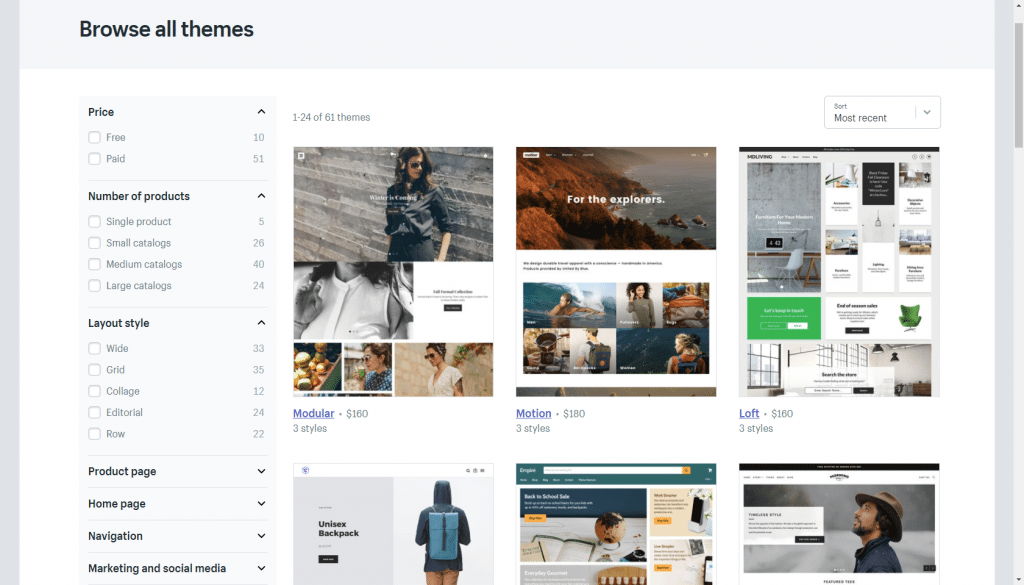 Shopify's styles