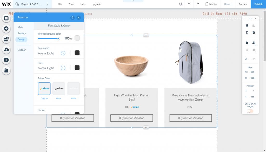 Wix Amazon App