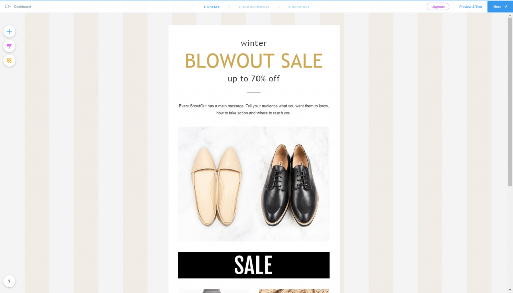 Wix ShoutOuts email marketing