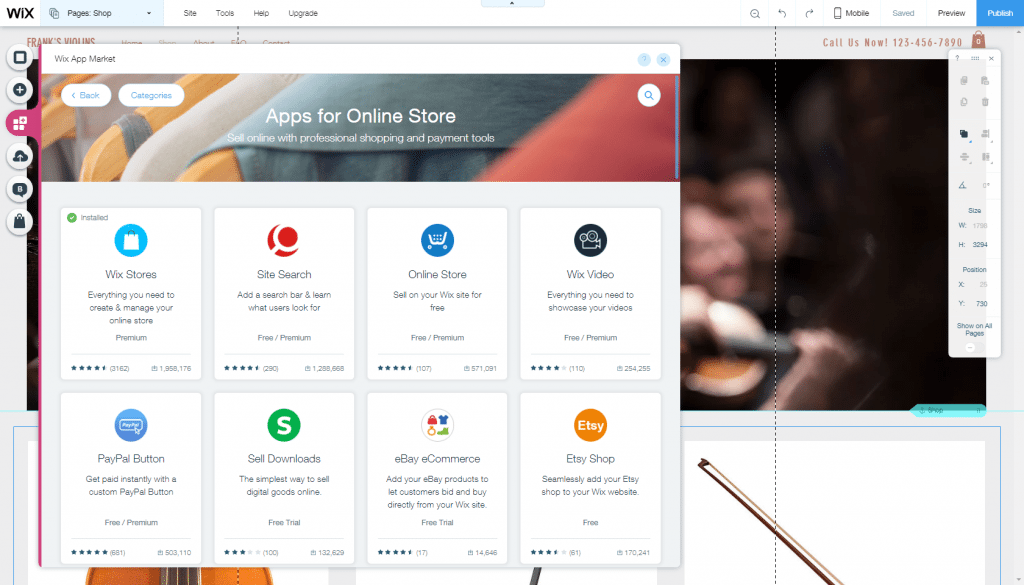 Apps for online stores