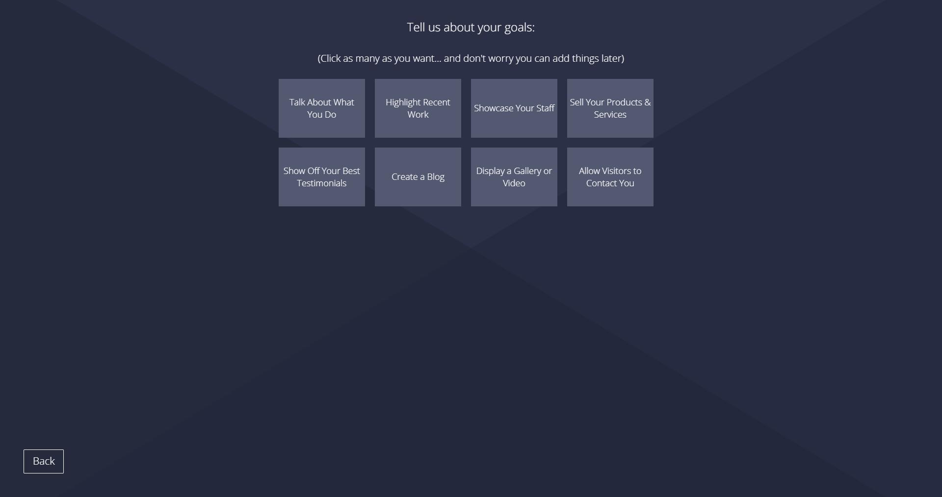 Web.com Website Setup process
