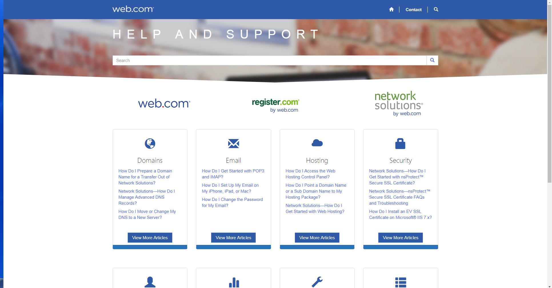 web.com help center