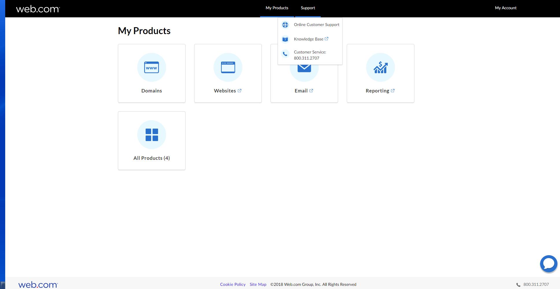 web.com support options
