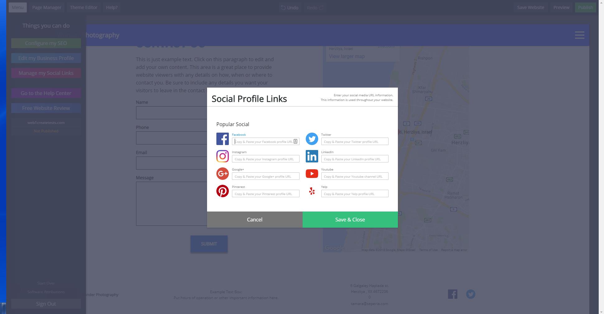 web.com social media