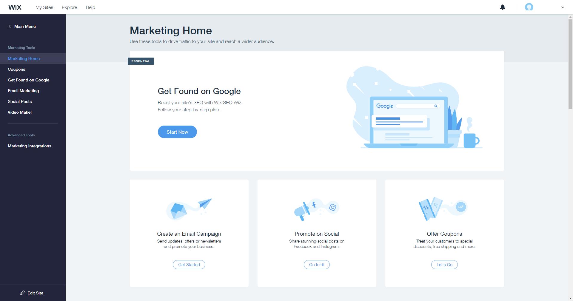 Wix Ascend marketing tools