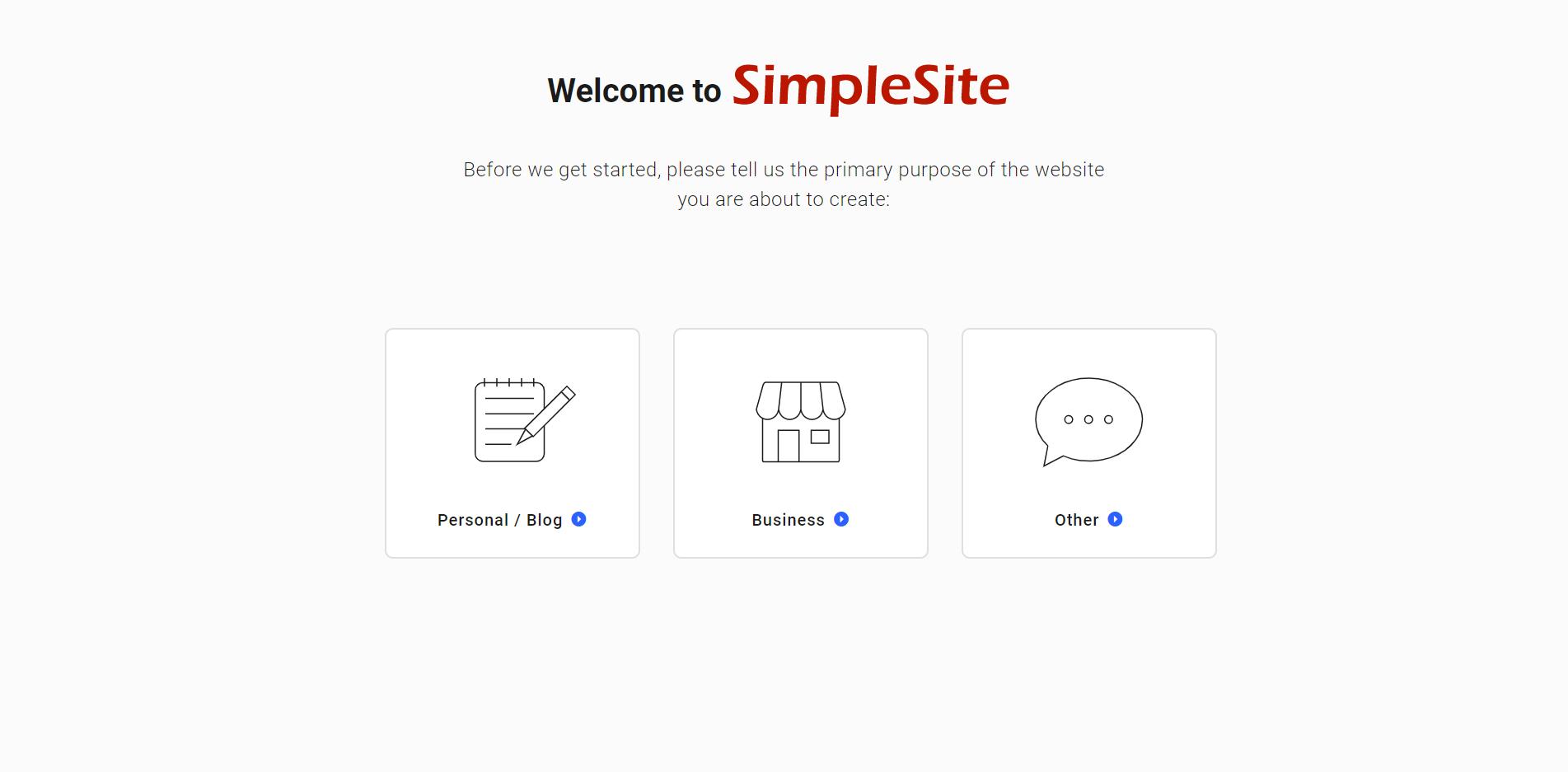 simplesite website
